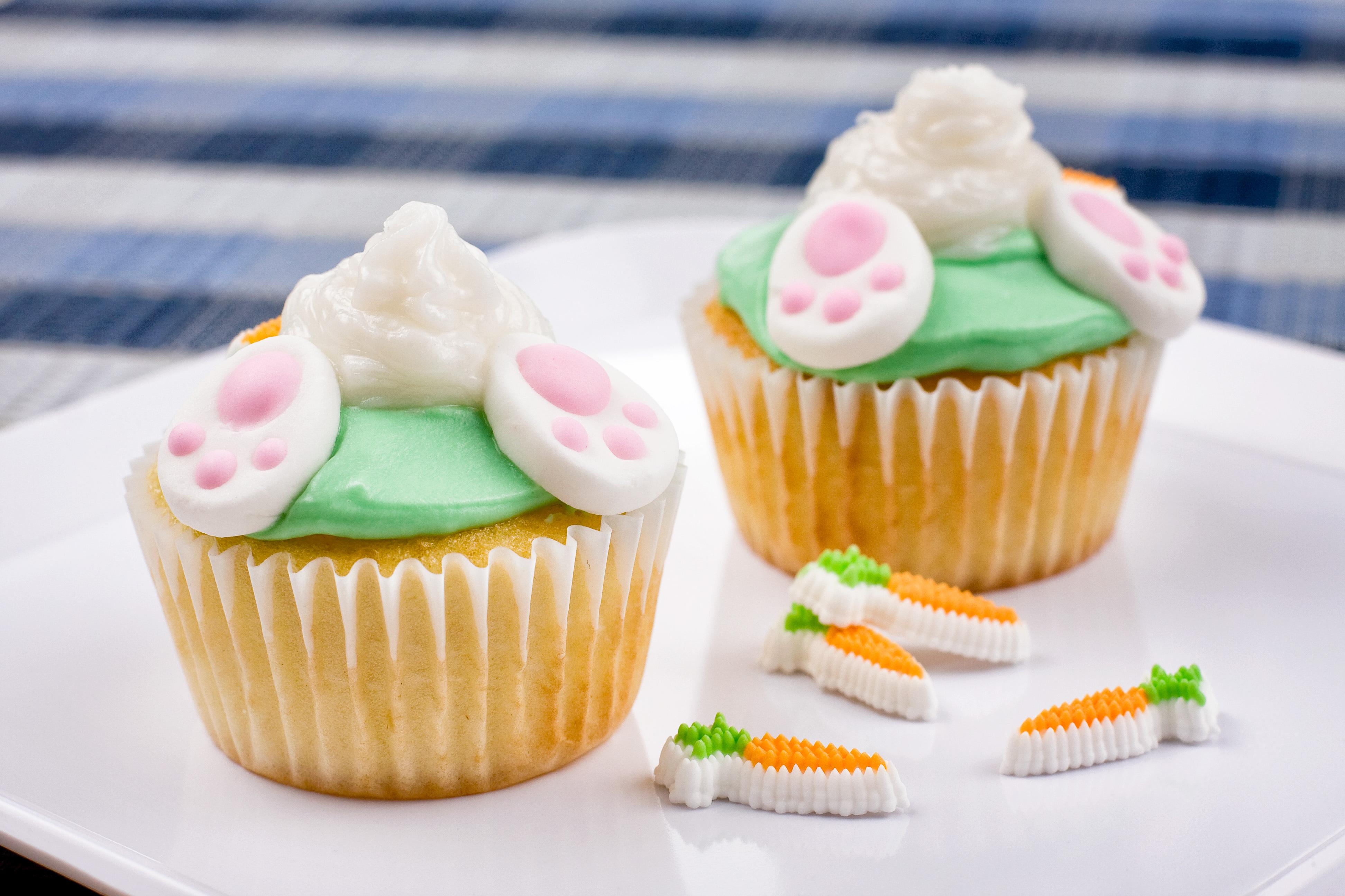 Bunny Tail Cupcakes