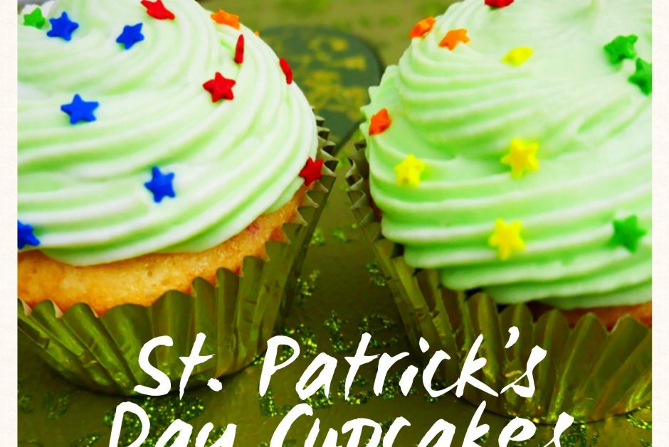 St Patrick's Day Cupcakes title
