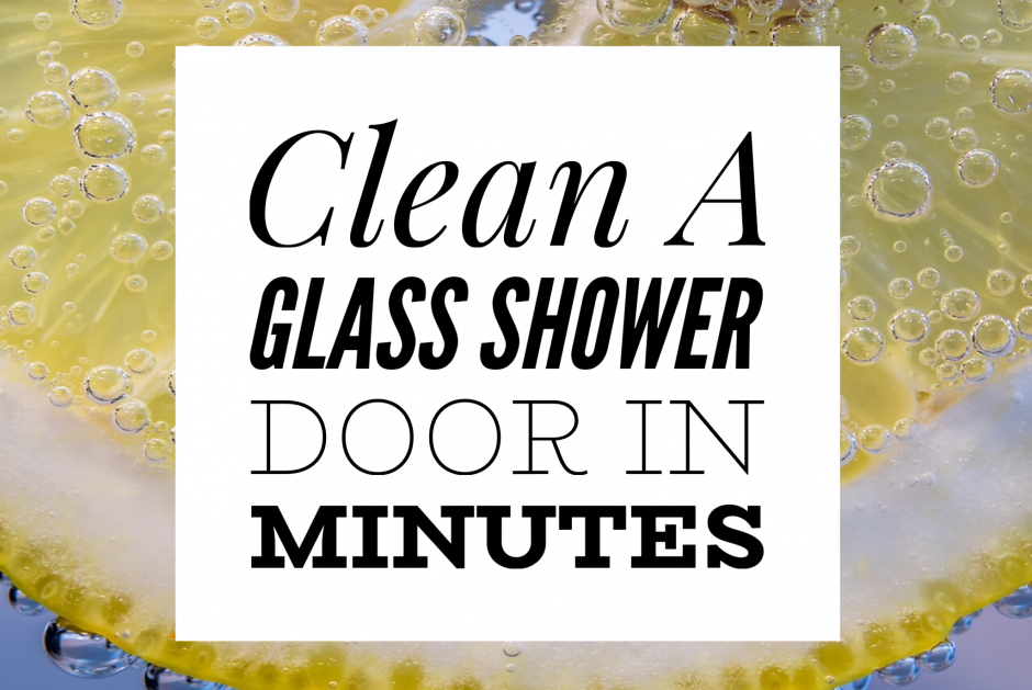 Clean A Shower with Lemon