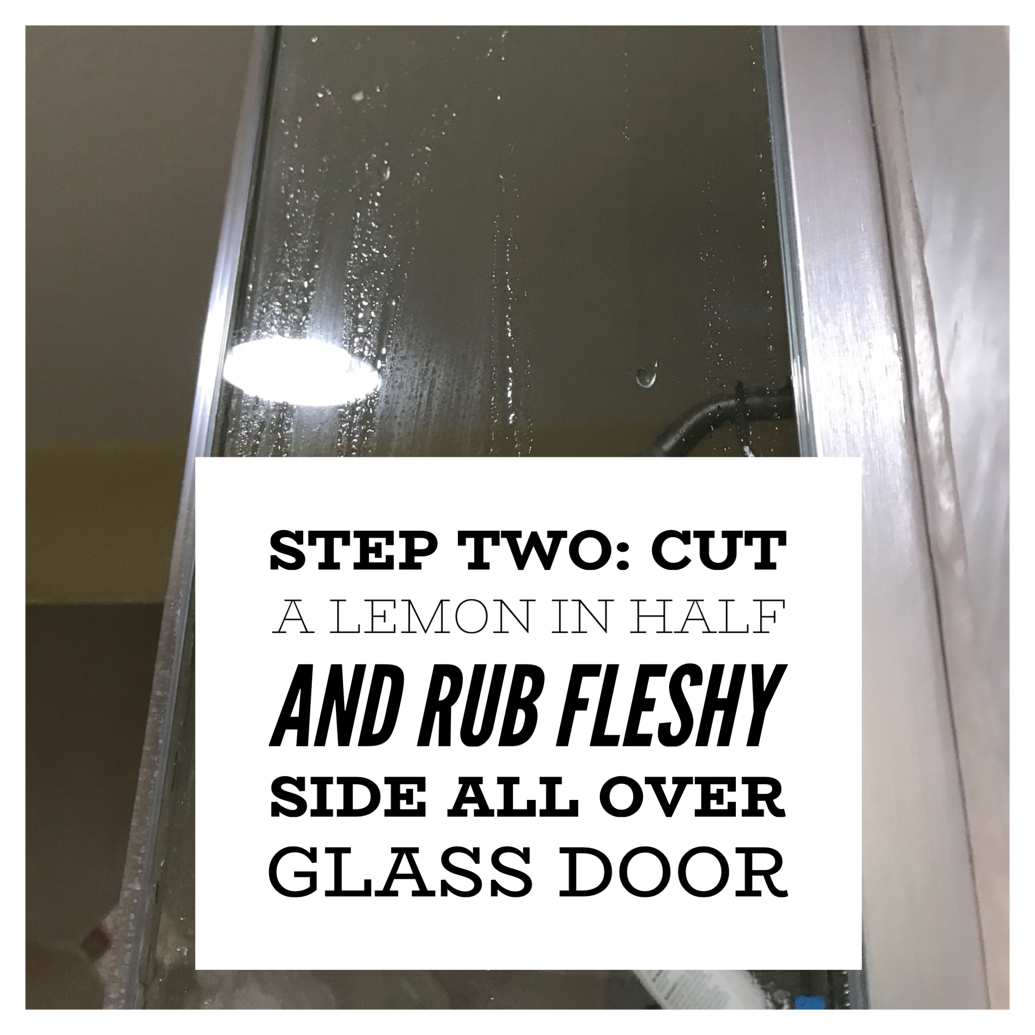clean a glass shower door in minutes