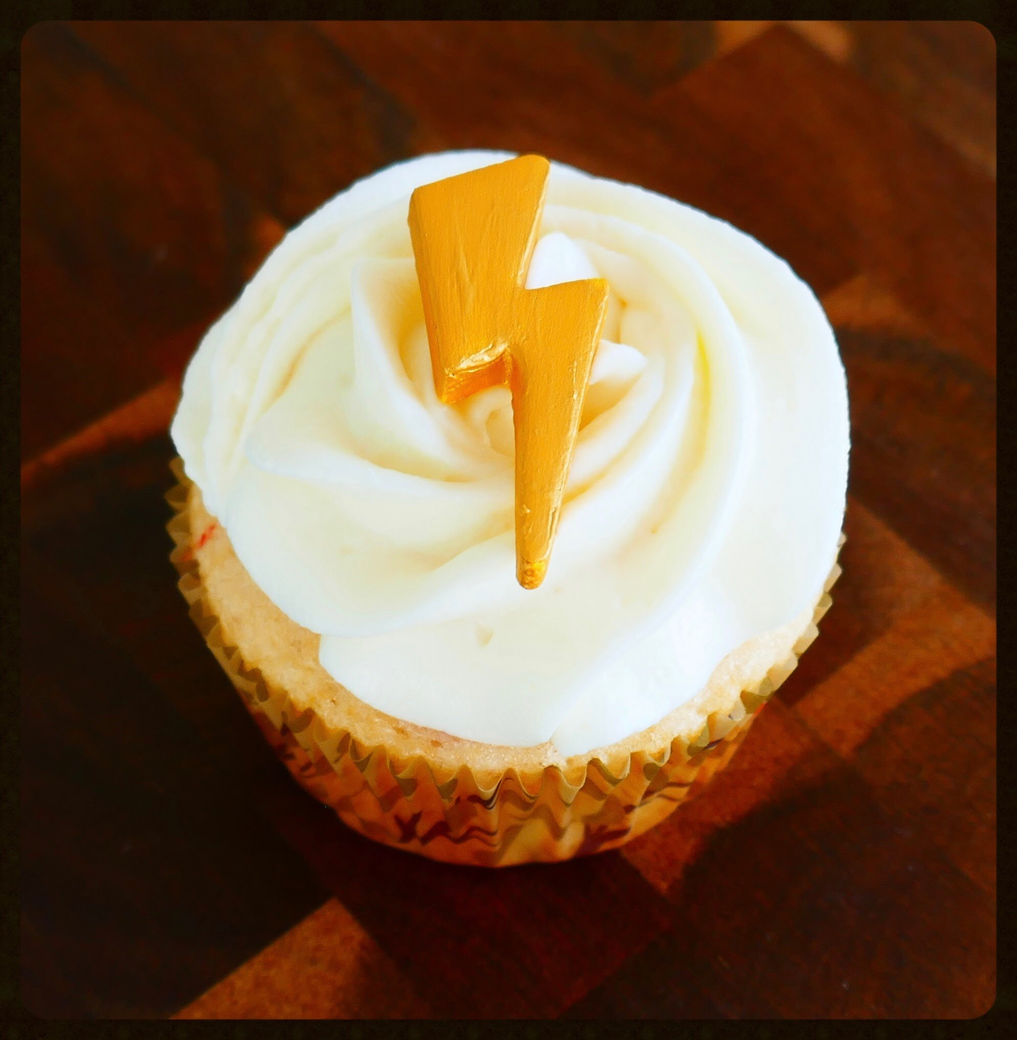 Harry Potter Lightning Cupcakes