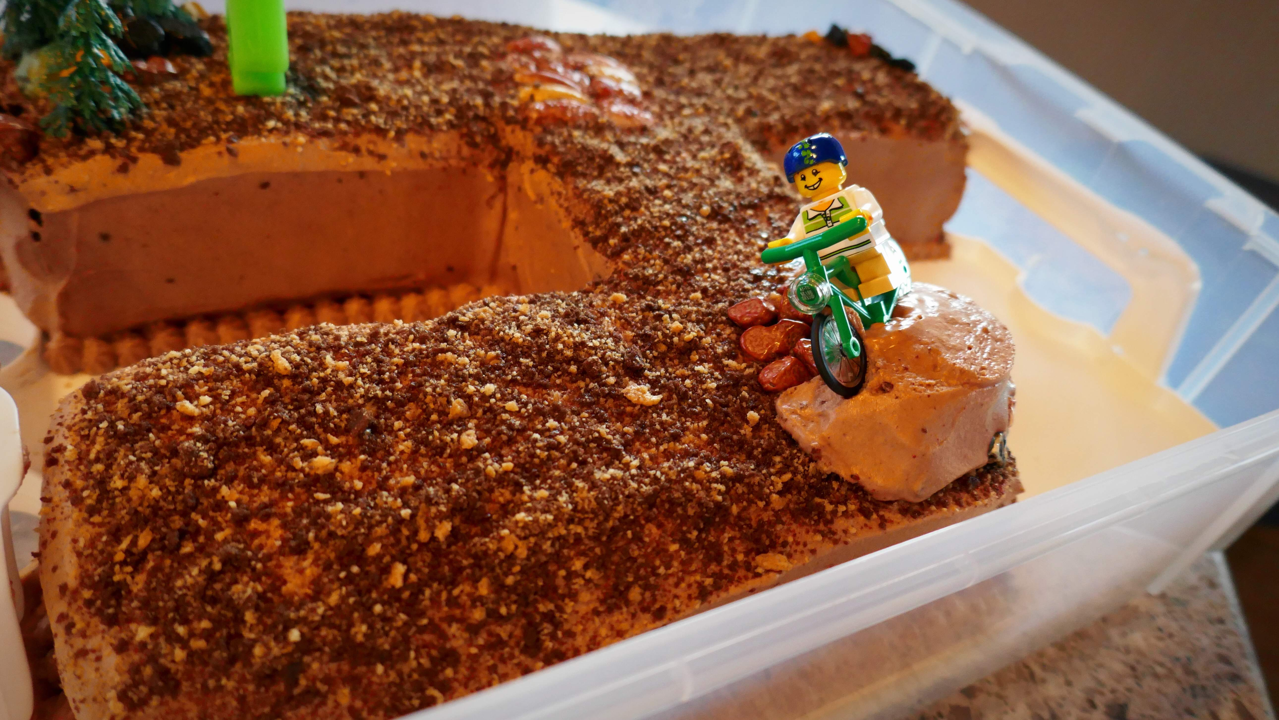 Mountain Bike Birthday Cake