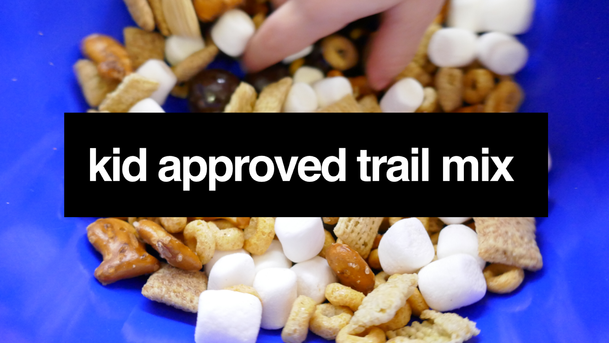 kid approved trail mix