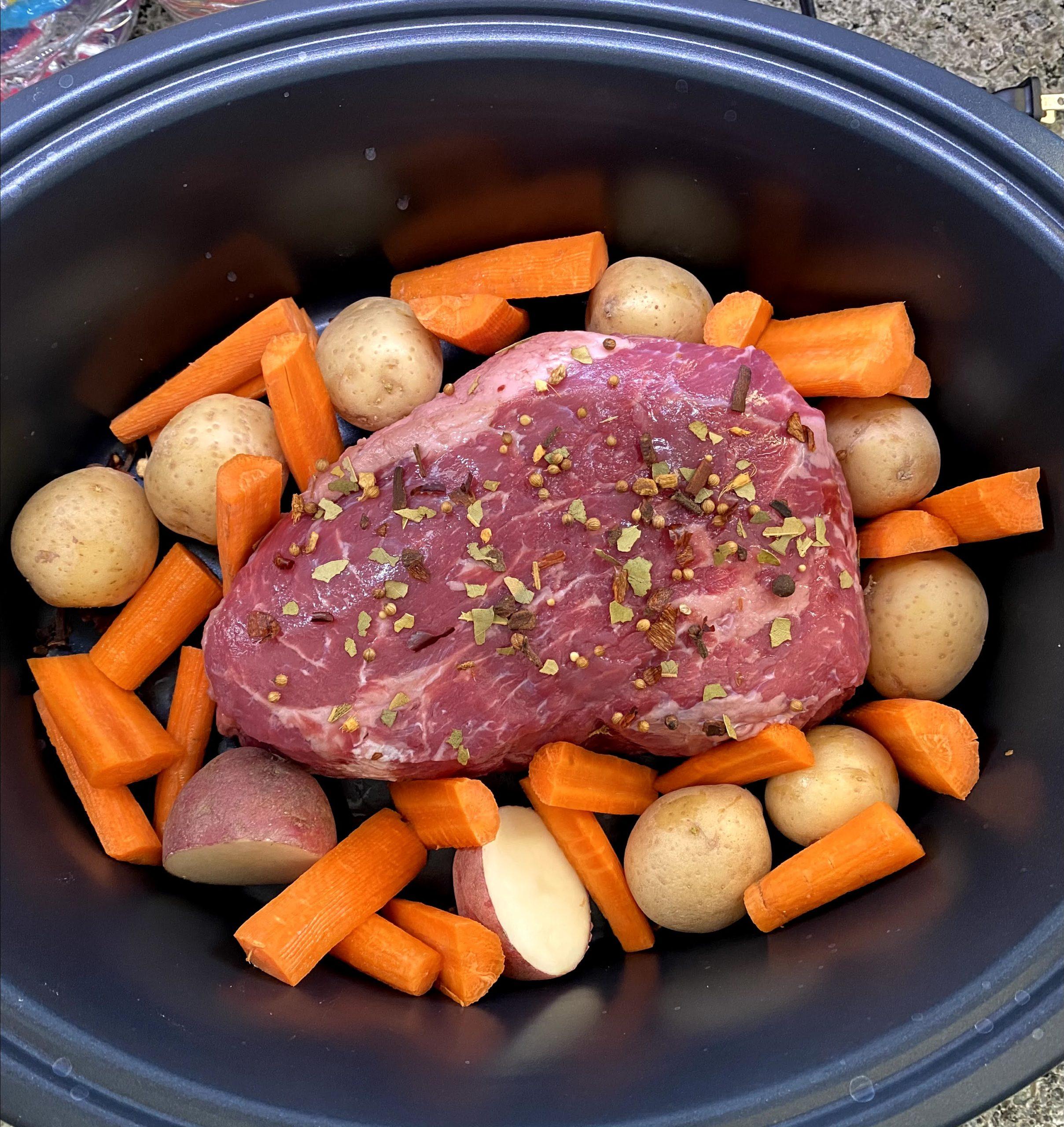 corned beef and veg
